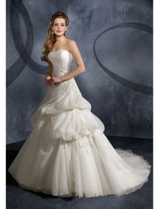 Fashion Strapless Bridal Wedding Gowns (Ogt003W)