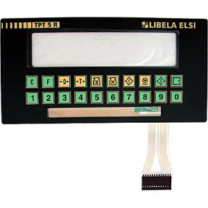Pillow Embossed Membrane Keyboard With Metal Dome Tactile and LCD Window