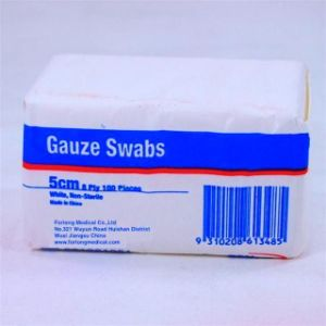Non Sterile Gauze Swabs (Pack of 100) pictures & photos