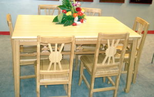 Solid Bamboo Table Set