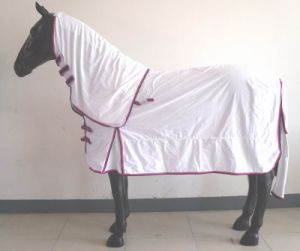 White Breathable Summer Polycotton Horse Rug pictures & photos