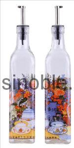 Oil Vinegar Bottle Set with Decal (KG0201050121)