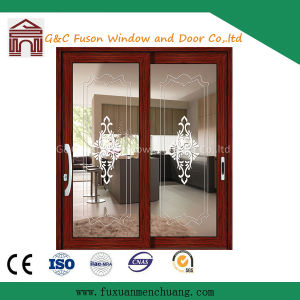 Double Glass Design Aluminum Sliding Door pictures & photos