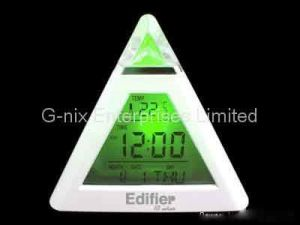 Moodycare Clock Pyramid, Color Change Calendar Clock (C408)