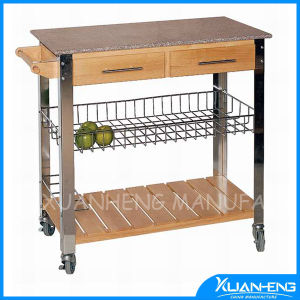 Classic Bamboo Kitchen Trolley for Outdoor pictures & photos