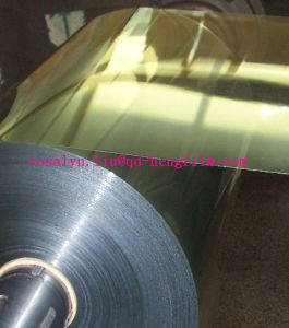 Metallized PVC Rigid Film with Gold and Silver for Biscuit Tray pictures & photos