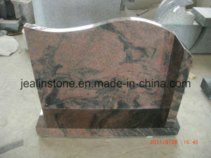 Unique Aurora Granite Headstone (European Style) (NO. 190)