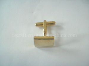 Die Struck Gold Plating Cuff Link