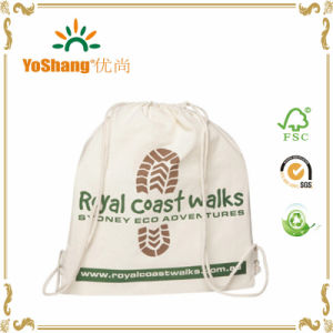 2016 High Quality Cheap 12oz White Cotton Canvas Drawstring Bag for 1 C Printing MOQ Is 500PCS pictures & photos