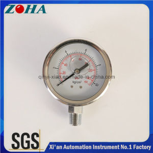 "All Stainless Steel Hydraulic Pressure Indicators Pressure Gauges 4"" pictures & photos"