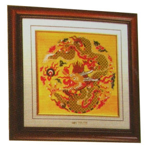 China Traditional Embroidery Craft--Handmade Gold Brocade Dragon