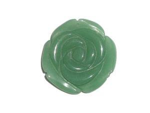 40mm Flower Green Aventurine Pendant