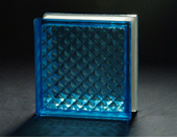 190*190*80mm Blue Lattice Glass Block Used to Decorate & AS/NZS2208: 1996 pictures & photos