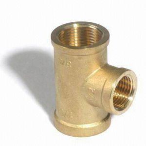 Cw614n Brass Female Tee Pipe Fittings for Sanitary Ware pictures & photos