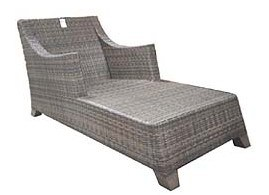 Outdoor Garden Rattan Furniture Day Bed Florid Mixed Brown Wicker