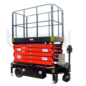 9m Electric Hydraulic Aerial Work Platform Self-Propelled Scissor Lift pictures & photos