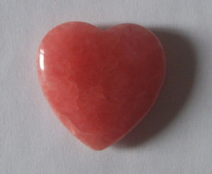 30mm Heart Rhodochrosite Gemstone Carving