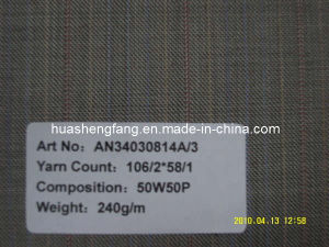 Pure Wool Worsted Suit Fabric / Men′s Uniform Fabric / Fancy Garment Fabric (AN34030814A/3)