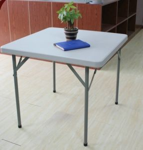 34 Inch Functional Square Folding Table (SY-87F) pictures & photos