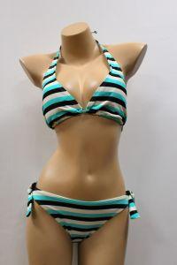 Women′s Pullover Halter Bralette with Ties Swimsuit Bikini