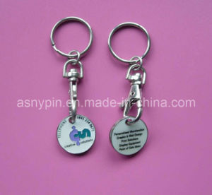 Custom Metal Shopping Trolley Coin (ASNYTC-001) pictures & photos