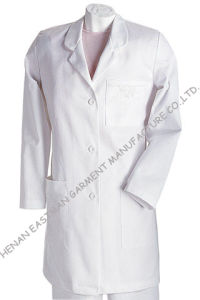 OEM Design Hospital Uniform/Medical Scrubs/Lab Coat with Simply Style, Made of Polyester/Cotton, Poplin
