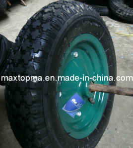 China Quality Pneumatic Wheelbarrow Rubber Wheel pictures & photos