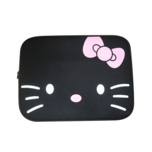 Cat Face Neoprene Laptop Bag (LP-027) pictures & photos