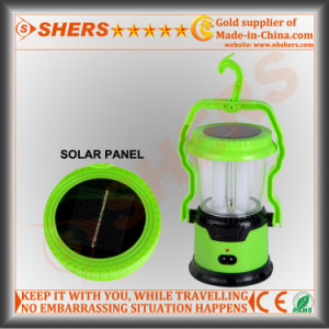 8 LED Solar Camping Lantern with LED Torch, USB (SH-1972) pictures & photos