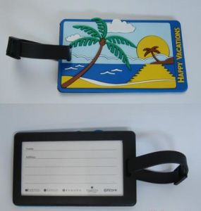 Plastic Luggage Tag (4005)