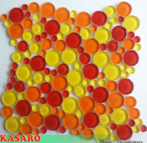 Red and Yellow Glass Mosaic Decoration Pebble Tiles (KSL-C10095)