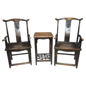 Chinese Antique Wooden Chairs and Table Lwe158 pictures & photos