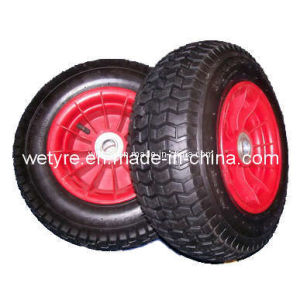 Sample Free High Quality Pneumatic Rubber Wheel (16′x6.50-8)