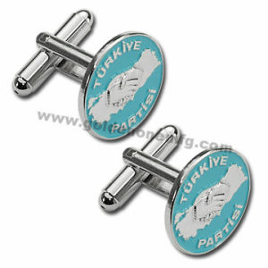 Promotion Custom Round Metal Cufflink (CL07) pictures & photos
