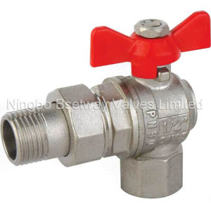 Butterfly Handle Brass Angle Ball Valve (BW-B46) pictures & photos