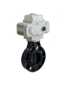 Electric Actuated UPVC Wafer Butterfly Valve pictures & photos