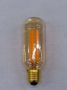 T45-6L Tube Lamp Long Filament Item Clear/Goldden Glass E27 Base Ce Approval Dimming Bulb