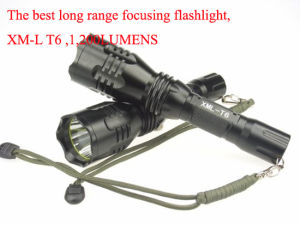 Top Class Super Long Range Focusing Rechargeable LED Torch pictures & photos