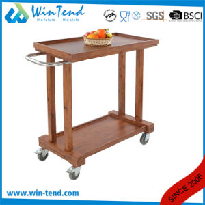 Unique Manufatuering Wooden Serving Trolley Cart for Hotel Choose pictures & photos