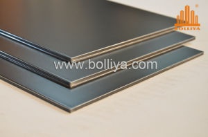 Silver Brush Hairline Brushed Exterior Aluminum Composite Panel pictures & photos
