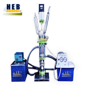 HEb-1L Jacketed Glass Reactor/Double Layer Glass Reactor with Heating Bath and Chiller pictures & photos