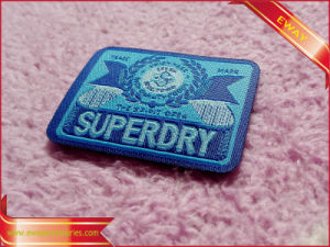 Coat Woven Patch Garment Fabric Woven Label Patch pictures & photos