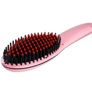 Electric Hair Straightening Brush with LCD Display pictures & photos