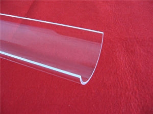 Hot Selling Arc Clear Quartz Plate for BBQ pictures & photos