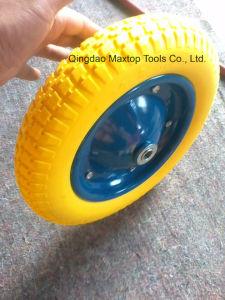 350-8 Solid Flat Free PU Foam Wheelbarrow Wheel pictures & photos