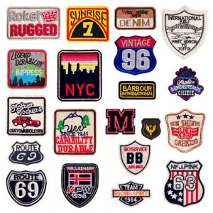 English Words Badge Clothing Patch with Road Sign for Garment Accessories Patch pictures & photos