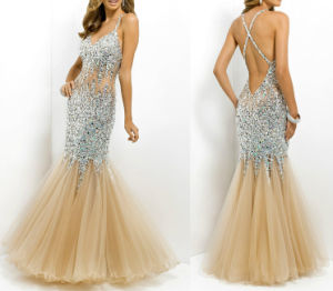 Beading Prom Formal Gown Mermaid Crystal Party Evening Dresses T92503 pictures & photos