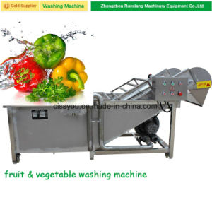 Selling Stainless Steel Vegetable Brush Washing and Peeling Machine pictures & photos