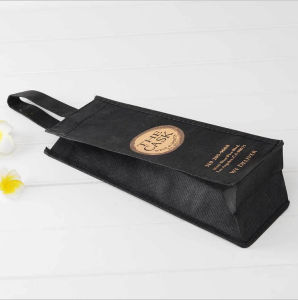 Custom Printed PP Non Woven Wine Bag, One Bottle Wine Tote Bag pictures & photos