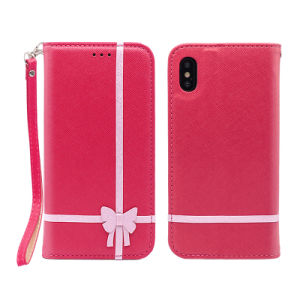 Hot Sales PU Leather Bowknot Phone Case for iPhone 7/7plus/X/8plus pictures & photos